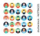 people avatars colored vector... | Shutterstock .eps vector #465786101