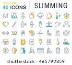 set vector line icons in flat... | Shutterstock .eps vector #465792359