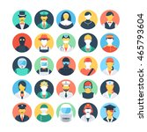 professions colored vector... | Shutterstock .eps vector #465793604