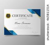 certificate template awards... | Shutterstock .eps vector #465811514