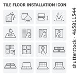 tile floor installation and... | Shutterstock .eps vector #465811544