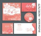 wedding invitation with white... | Shutterstock .eps vector #465817679