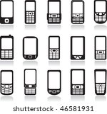 mobile phone icons set. vector | Shutterstock .eps vector #46581931
