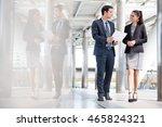 businessman and businesswoman... | Shutterstock . vector #465824321