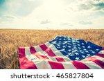 Usa American Flag Spreaded On...