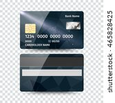 realistic detailed credit card... | Shutterstock .eps vector #465828425