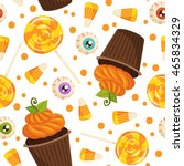 vector seamless pattern with... | Shutterstock .eps vector #465834329