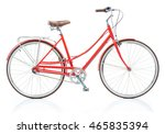 stylish womens red bicycle... | Shutterstock . vector #465835394