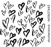 love vector pattern black and... | Shutterstock .eps vector #465837665