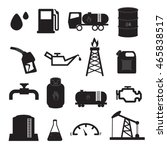 fuel  oil and gas icons set | Shutterstock .eps vector #465838517
