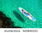 summer vacations. beautiful... | Shutterstock . vector #465840101
