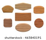 vector wood signs or wooden... | Shutterstock .eps vector #465840191