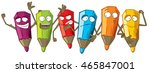 set of emotional pencils | Shutterstock .eps vector #465847001
