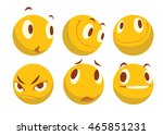 vector cartoon image of a set... | Shutterstock .eps vector #465851231