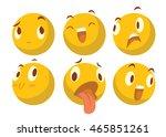 vector cartoon image of a set...   Shutterstock .eps vector #465851261