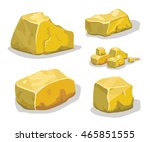 cartoon golden ore or stone for ...