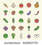 set of 25 minimalistic solid... | Shutterstock .eps vector #465852755