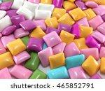 chewing gum background. | Shutterstock . vector #465852791