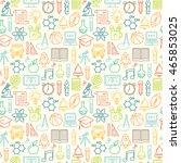 seamless vector school...   Shutterstock .eps vector #465853025