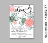 wedding invitation template...   Shutterstock .eps vector #465856157