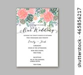 wedding invitation template... | Shutterstock .eps vector #465856217