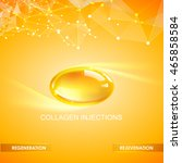 collagen natural product label... | Shutterstock .eps vector #465858584