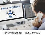 small business information... | Shutterstock . vector #465859439