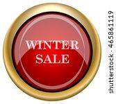 winter sale icon. internet... | Shutterstock .eps vector #465861119