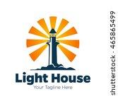 lighthouse logo design template | Shutterstock .eps vector #465865499