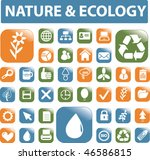 nature   ecology buttons. vector | Shutterstock .eps vector #46586815