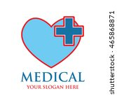 medical logo design template   Shutterstock .eps vector #465868871