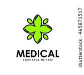 medical logo design template | Shutterstock .eps vector #465871517