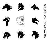 Stock vector horse vector set simple horse shape illustration editable elements can be used in logo design 465880385
