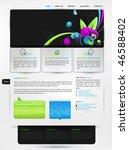 web design vector template   Shutterstock .eps vector #46588402