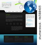web design vector template | Shutterstock .eps vector #46588405