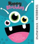 monster party card design....   Shutterstock .eps vector #465888431