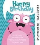 monster party card design.... | Shutterstock .eps vector #465888455