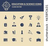 education icon set. vector | Shutterstock .eps vector #465892631
