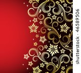 holiday floral background | Shutterstock . vector #46589506