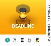 deadline color icon  vector...