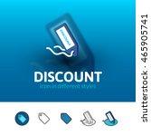 discount color icon  vector...