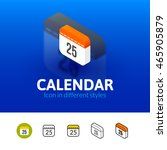 calendar color icon  vector...