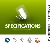 specifications color icon ...