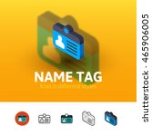 name tag color icon  vector...