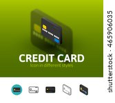 credit card color icon  vector...