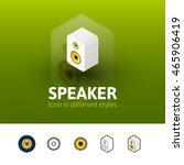speaker color icon  vector...