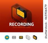 recording color icon  vector...