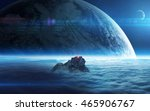 infinite space background with... | Shutterstock . vector #465906767