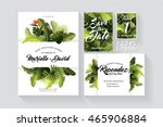 tropical  summer wedding... | Shutterstock .eps vector #465906884