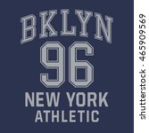 athletic sport brooklyn...   Shutterstock .eps vector #465909569